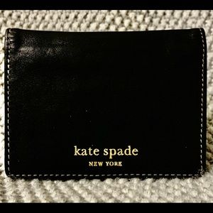 Kate Spade Genuine Leather Flap Card & ID Holder